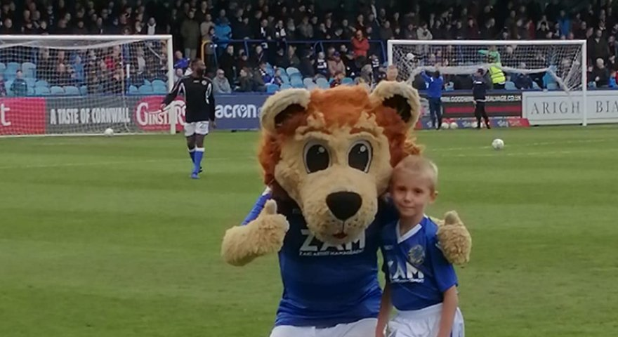 Lucky mascot is a real Leek United winner
