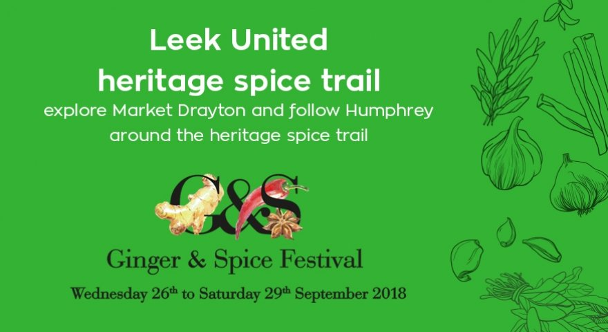 Get a taste of historic Market Drayton on the Leek United Heritage Spice Trail
