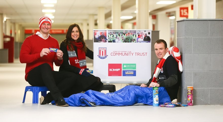 Society supports 'Big Sleep Out' at The Brit