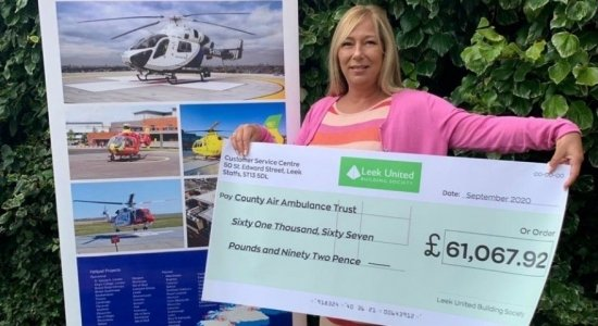 Society fundraising soars to new heights with largest ever charity donation