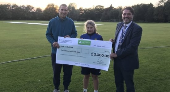 Howzat! Cricket club bowled over by support from Leek United
